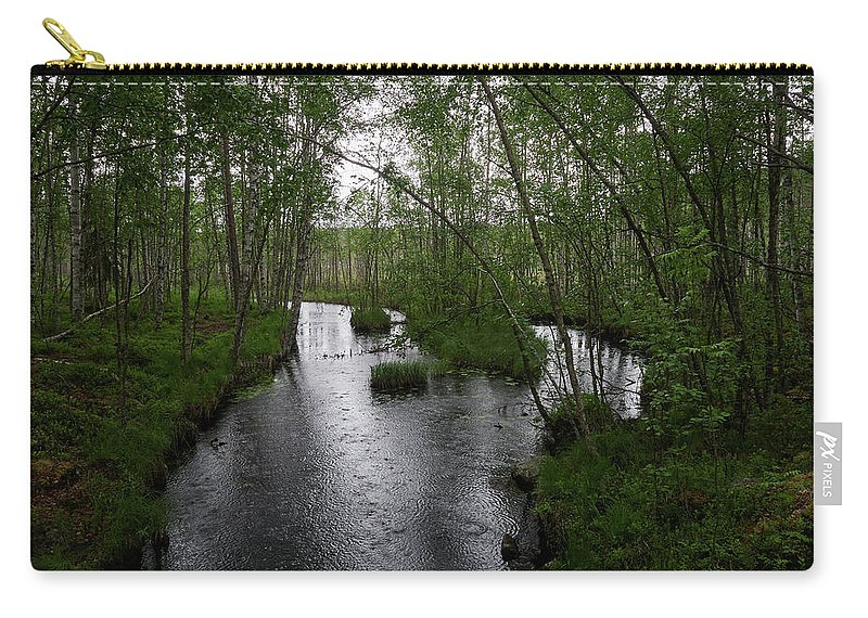 Finland Carry-all Pouch featuring the photograph Rainy River. Koirajoki by Jouko Lehto
