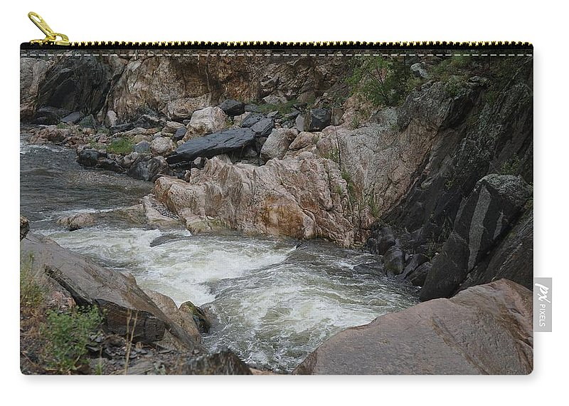 Colorado Carry-all Pouch featuring the photograph Rainy Rocky Rapids by Susan Brown