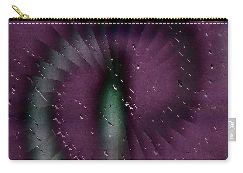 Rain Carry-all Pouch featuring the digital art Rainy Window by Tim Allen