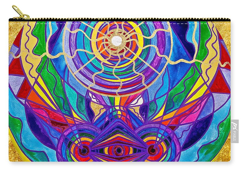 Vibration Carry-all Pouch featuring the painting Raise Your Vibration by Teal Eye Print Store