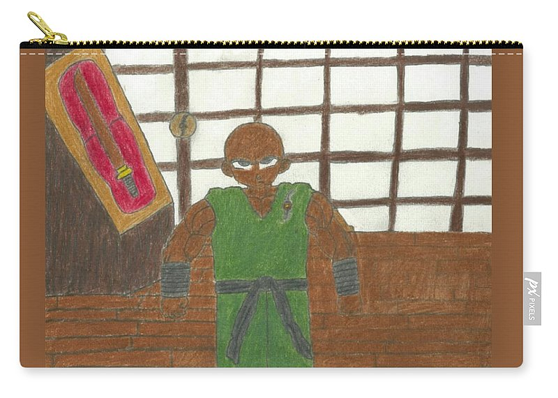 Master Carry-all Pouch featuring the drawing Rajarous by Rahmel Garner