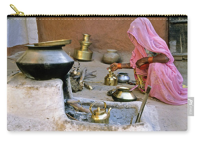 India Carry-all Pouch featuring the photograph Rajasthani Woman by Michele Burgess