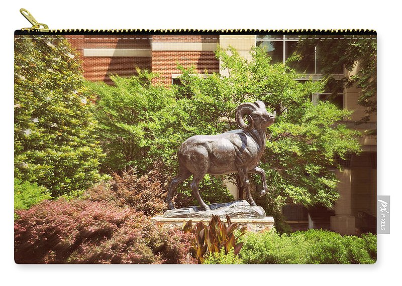 Nature Carry-all Pouch featuring the photograph Ram Statue by Paulette B Wright