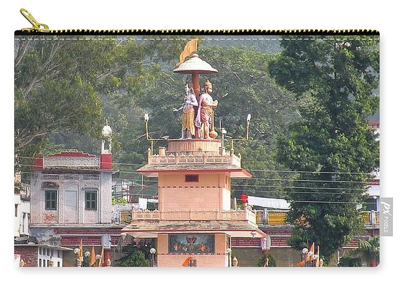 Rishikesh Carry-all Pouch featuring the photograph Ram Statue - Rishikesh India by Kim Bemis