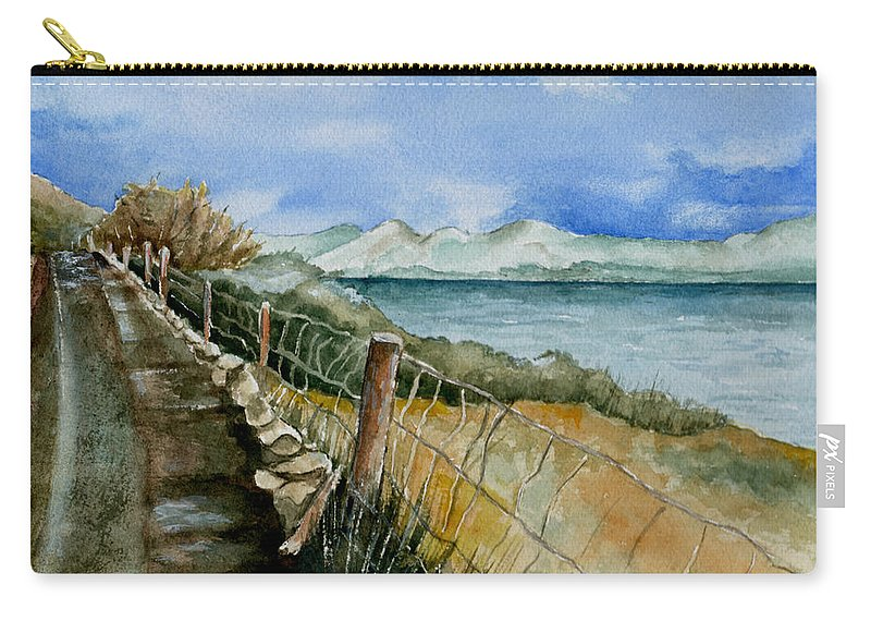 Watercolor Carry-all Pouch featuring the painting Rambling Walk by Brenda Owen