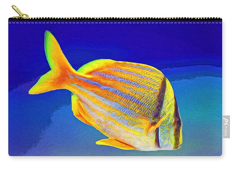 Fish Carry-all Pouch featuring the painting Ramone by Dominic Piperata