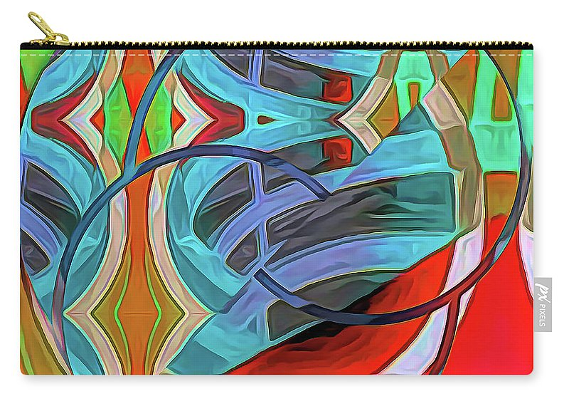 Abstract Carry-all Pouch featuring the digital art Ramped Up by Linda Dunn