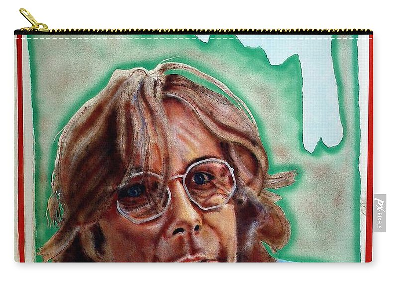 Portrait Carry-all Pouch featuring the painting Ramsey by Ron Bissett
