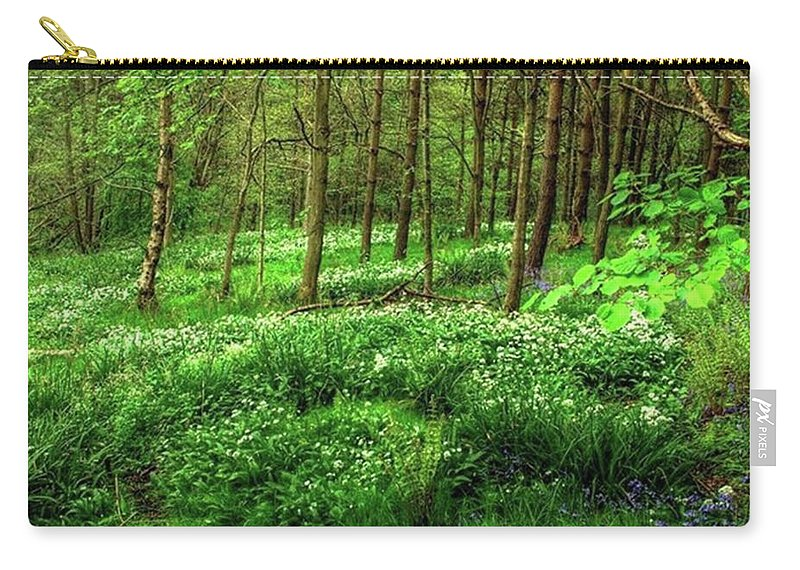 Nature Carry-all Pouch featuring the photograph Ramsons And Bluebells, Bentley Woods by John Edwards