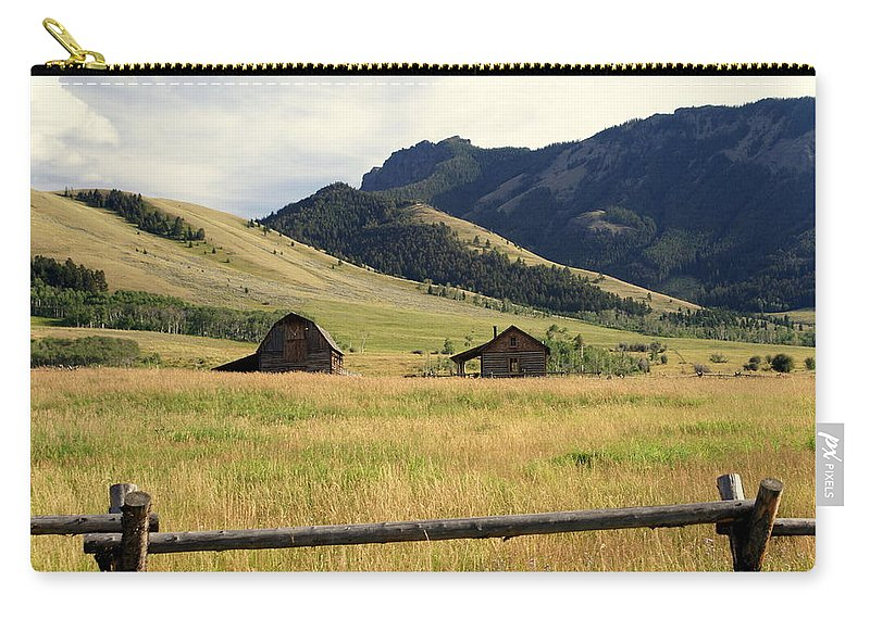 Landscapes Carry-all Pouch featuring the photograph Ranch Along Tom Miner Road by Marty Koch