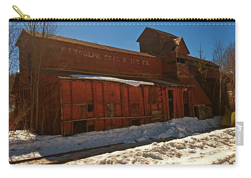 vermont Images Carry-all Pouch featuring the photograph Randolph Coal And Ice by Paul Mangold
