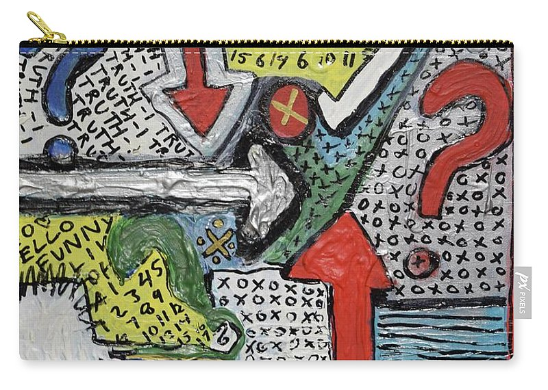 Randomart Carry-all Pouch featuring the painting Random Art by Aj Watson