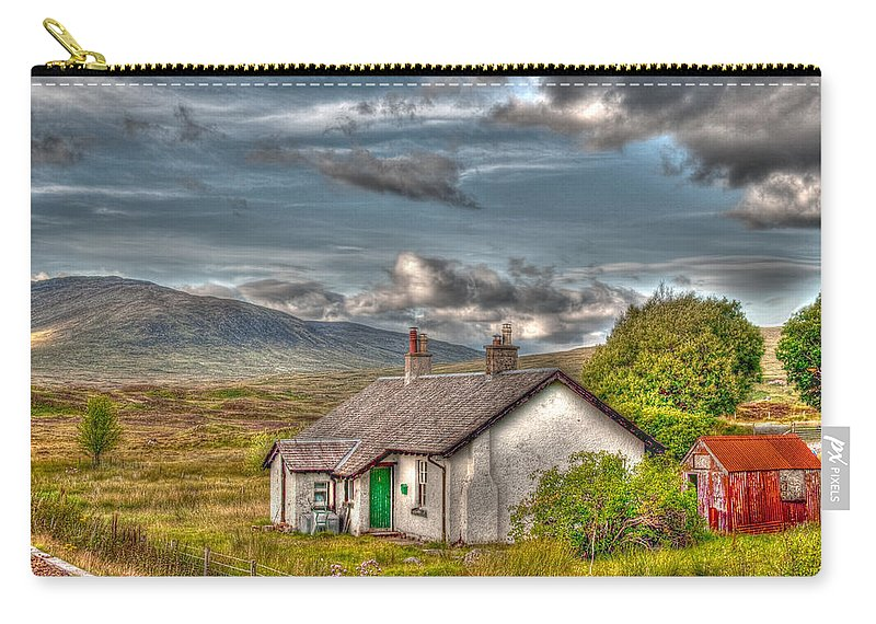 Rannoch Carry-all Pouch featuring the photograph Rannoch Railway Station View by Chris Thaxter