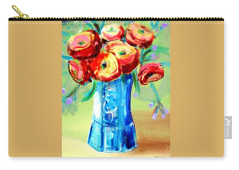 Rannuculus Carry-all Pouch featuring the painting Rannunculus by Karen Sloan