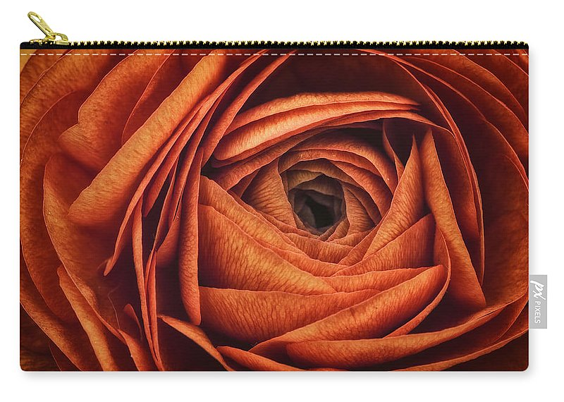 Ranunculus Carry-all Pouch featuring the photograph Ranonkel Oranje by Rick Berk