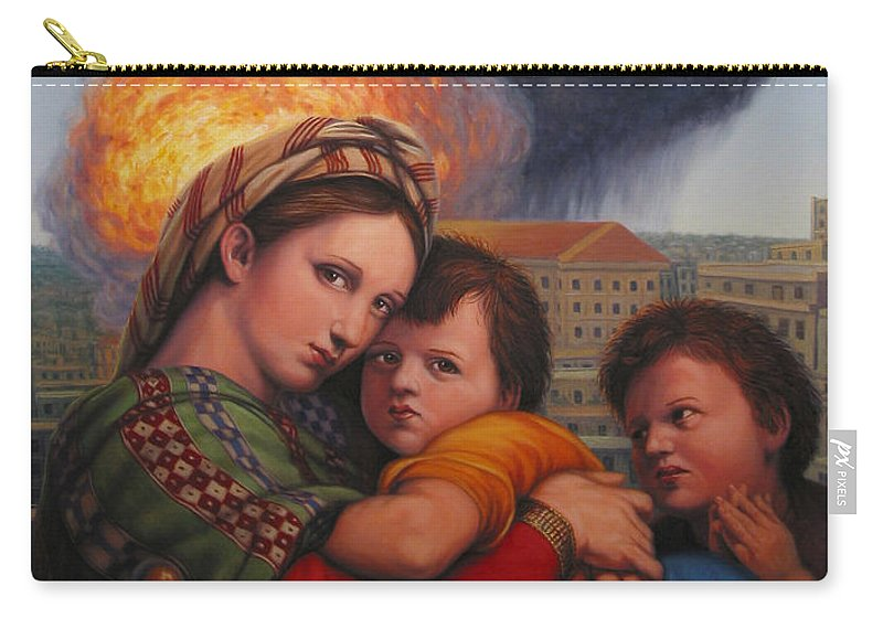 Madonna And Child Carry-all Pouch featuring the painting Raphael Moderne by James W Johnson
