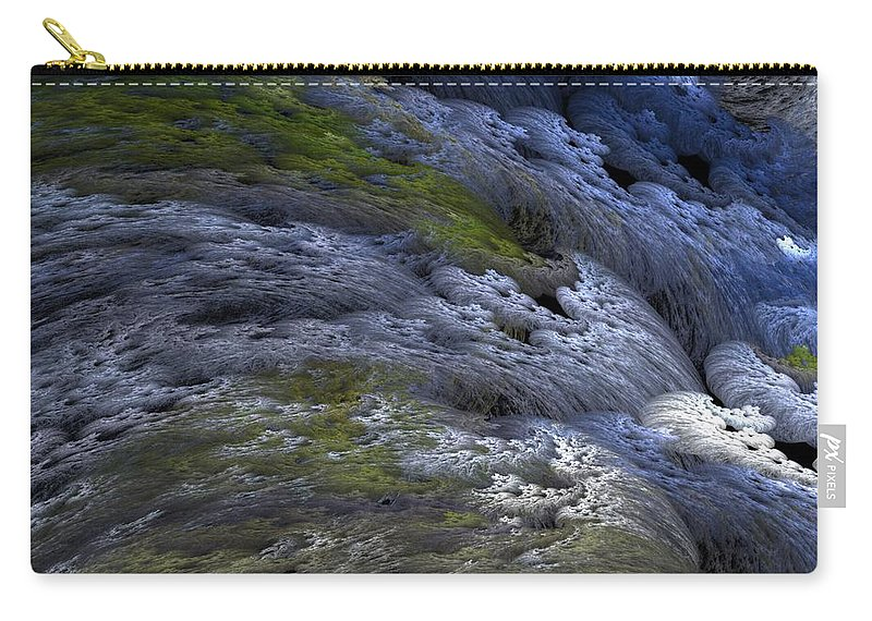 Digital Painting Carry-all Pouch featuring the digital art Rapids by David Lane