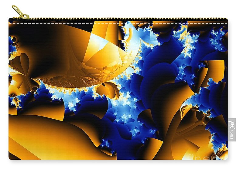 Rapids Carry-all Pouch featuring the digital art Rapids by Ron Bissett