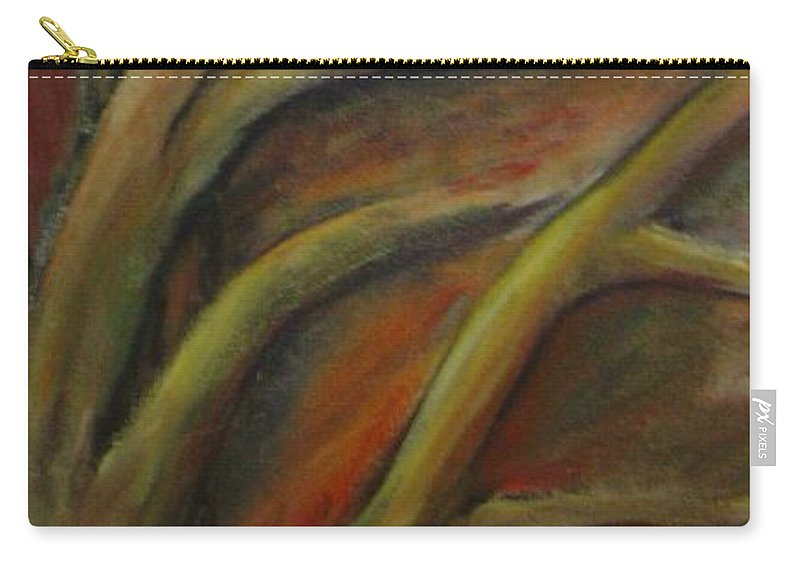 Tree Abstract Painting Expressionist Original Leila Atkinson Carry-all Pouch featuring the painting Rapt by Leila Atkinson