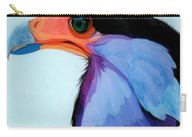 Raptor Carry-all Pouch featuring the painting Raptor 5 by Marlene Burns