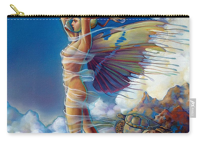 Mermaid Carry-all Pouch featuring the painting Rapture And The Ecstasea by Patrick Anthony Pierson