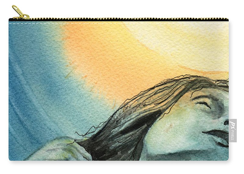 Watercolor Carry-all Pouch featuring the painting Rapture by Brenda Owen