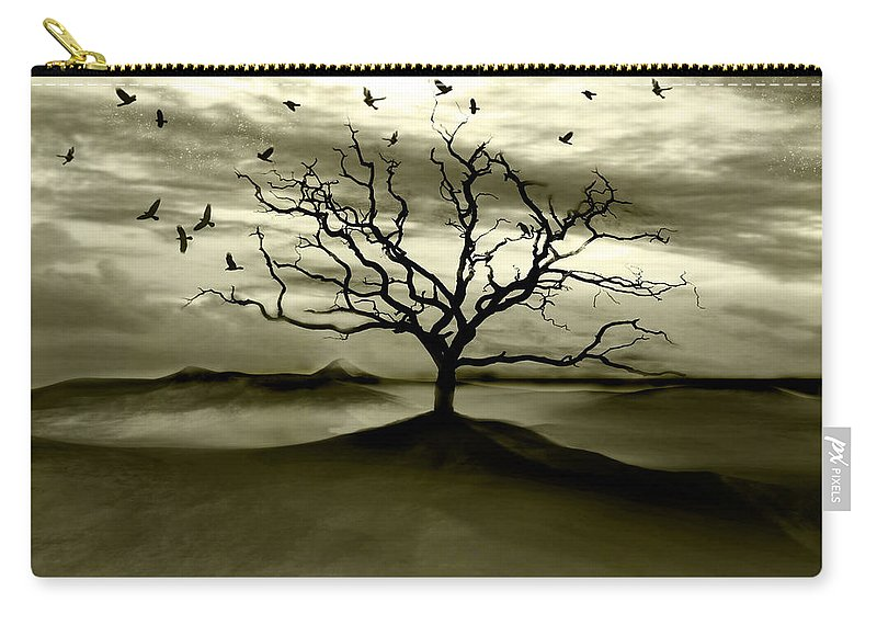 Landscape Carry-all Pouch featuring the photograph Raven Valley by Jacky Gerritsen