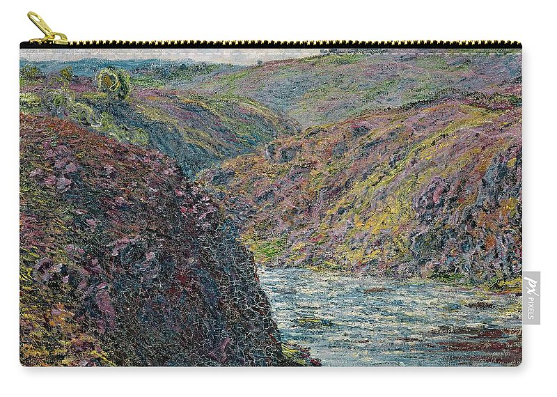 Sea Carry-all Pouch featuring the painting Ravines Of The Creuse At The End Of The Day by Claude Monet