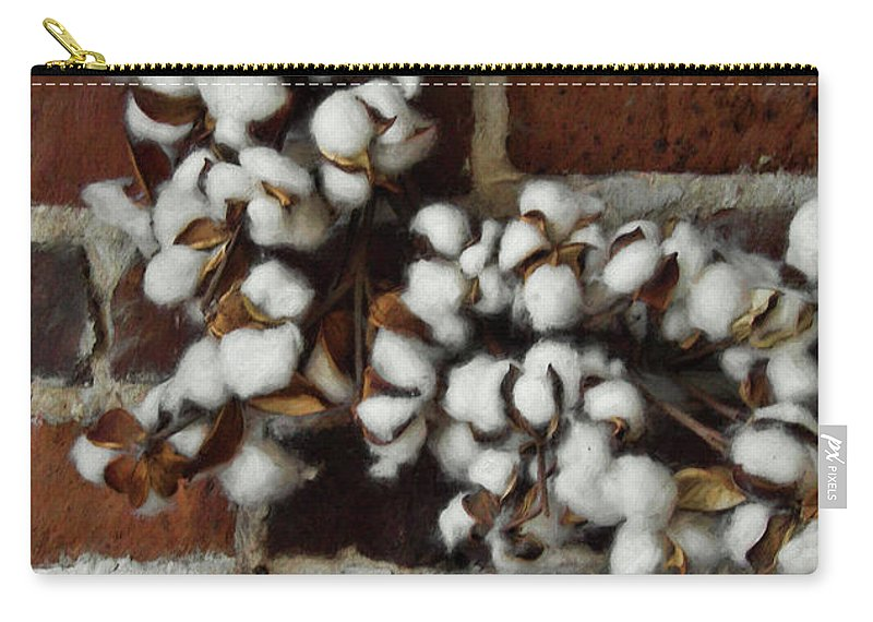 Cotton Carry-all Pouch featuring the photograph Raw Cotton by JAMART Photography