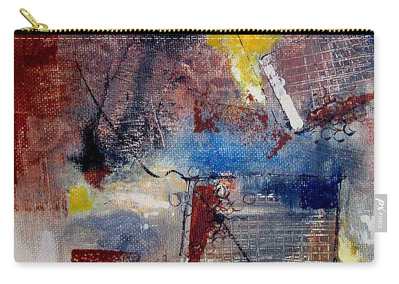 Abstract Carry-all Pouch featuring the painting Raw Emotions II by Ruth Palmer