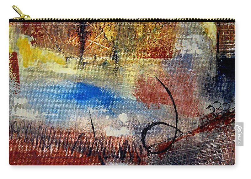 Abstract Carry-all Pouch featuring the painting Raw Emotions by Ruth Palmer