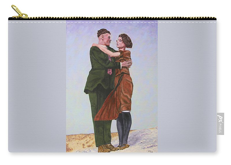 Double Portrait Carry-all Pouch featuring the painting Ray And Isabel by Stan Hamilton
