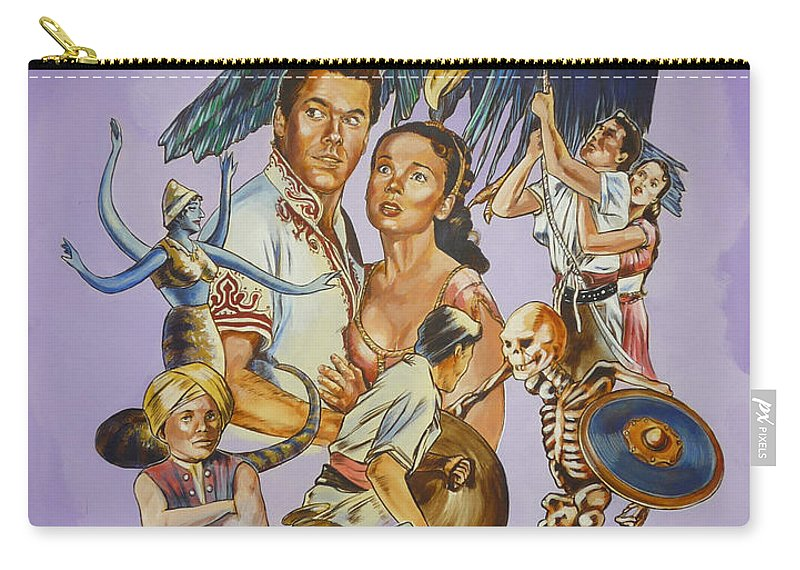 Movie Carry-all Pouch featuring the painting Ray Harryhausen Tribute Seventh Voyage Of Sinbad by Bryan Bustard