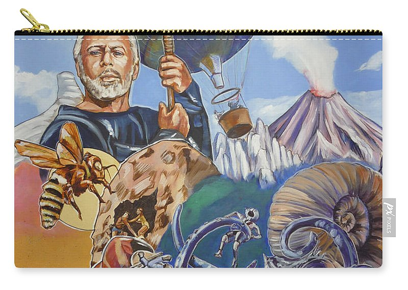 Mysterious Island Carry-all Pouch featuring the painting Ray Harryhausen Tribute The Mysterious Island by Bryan Bustard