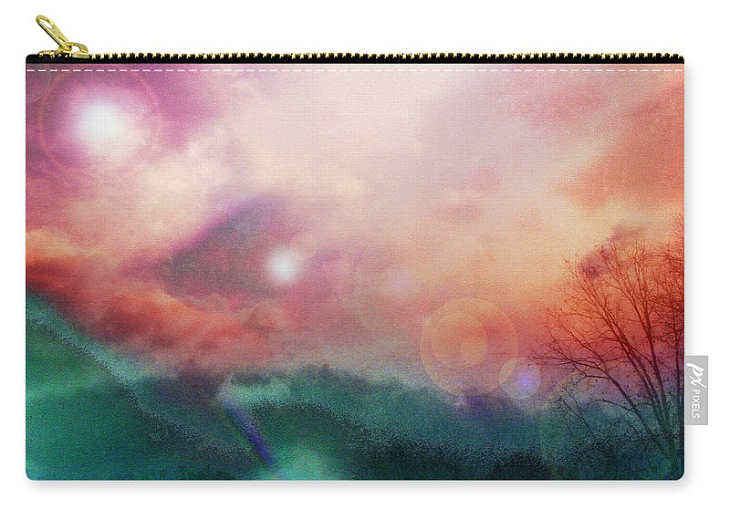 Nature Carry-all Pouch featuring the digital art Ray Of Hope by Linda Sannuti