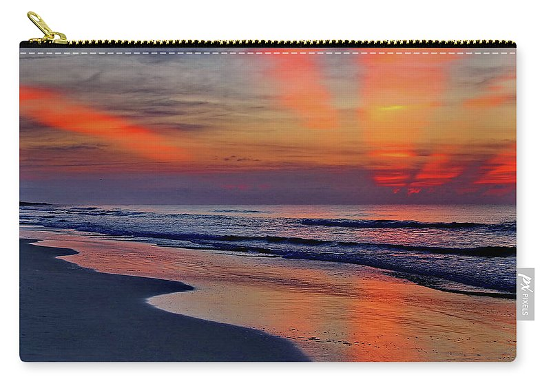Sunrise Carry-all Pouch featuring the photograph Rays From Heaven by David Byron Keener