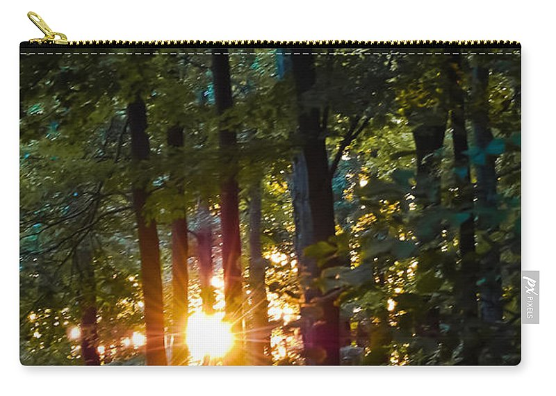 Sun Carry-all Pouch featuring the digital art Rays Of Dawn by DigiArt Diaries by Vicky B Fuller