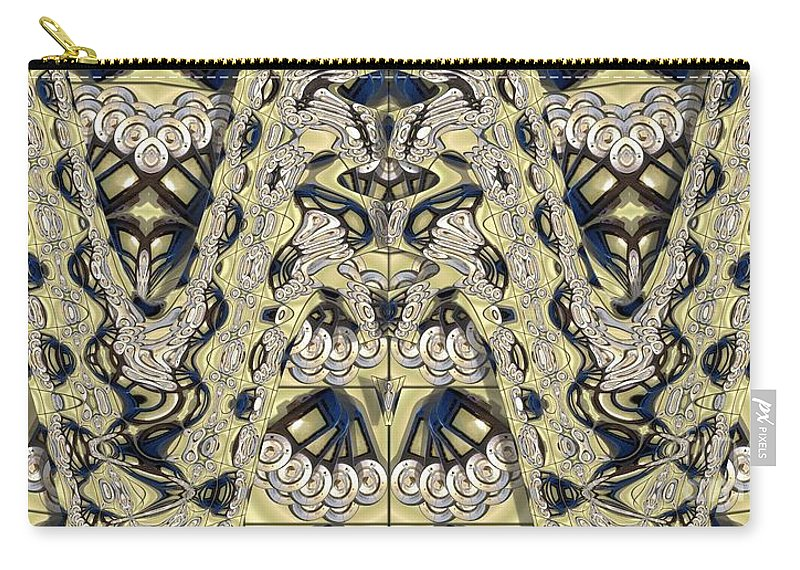 Abstract Carry-all Pouch featuring the photograph Rca Lyra Pattern by Ron Bissett