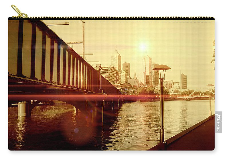 Bridge Carry-all Pouch featuring the photograph Reach by Douglas Barnard