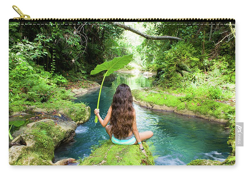 Jamaica Carry-all Pouch featuring the photograph Reach Falls River by Ferry Zievinger