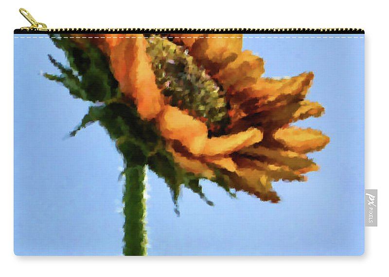 Sunflower Carry-all Pouch featuring the painting Reach For The Sun by Kristin Elmquist