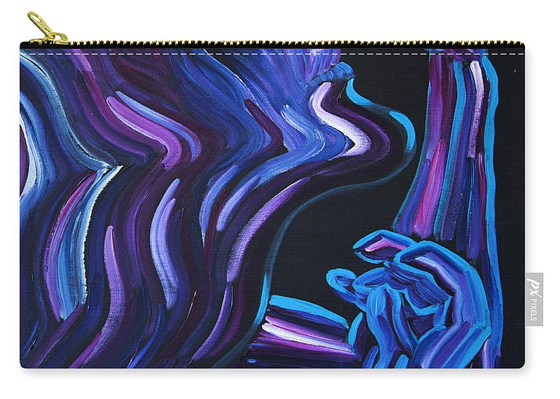 Figure Carry-all Pouch featuring the painting Reach by JoAnn DePolo