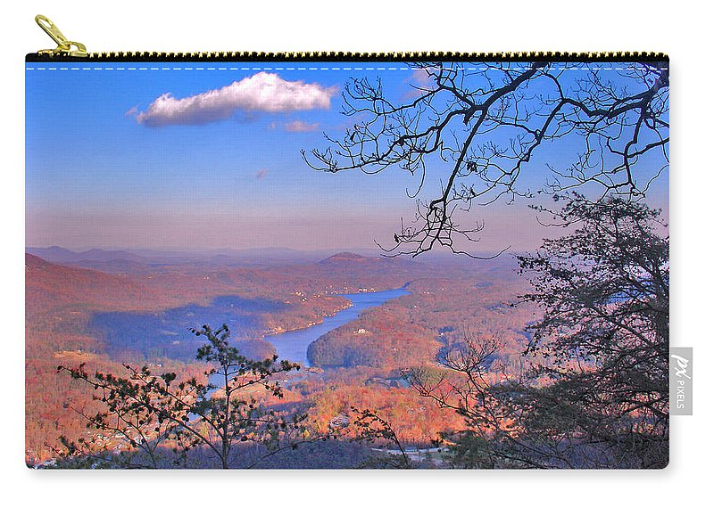 Landscape Carry-all Pouch featuring the photograph Reaching For A Cloud by Steve Karol