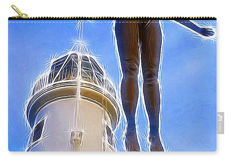 Art Carry-all Pouch featuring the photograph Reaching For Gold by Vix Edwards