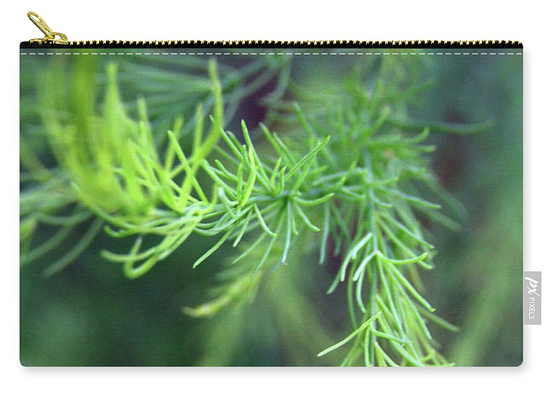 Asparagus Leaves Carry-all Pouch featuring the photograph Reaching Out 2 by Kim Tran