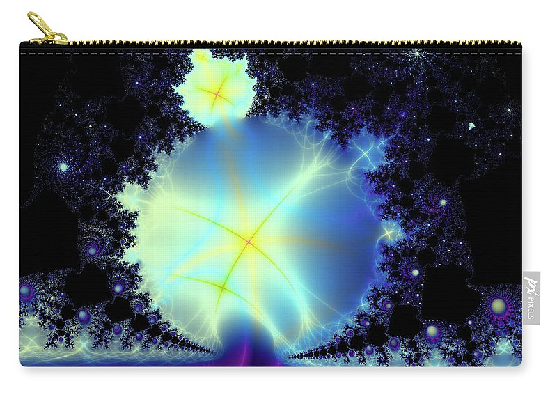 Fractal Carry-all Pouch featuring the digital art Reaching Out by Debra Martelli