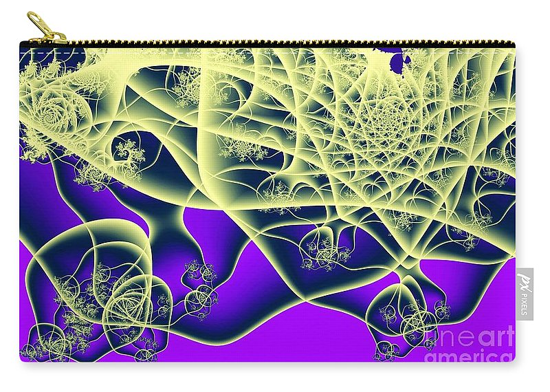 Fractal Carry-all Pouch featuring the digital art Reaching Out by Ron Bissett
