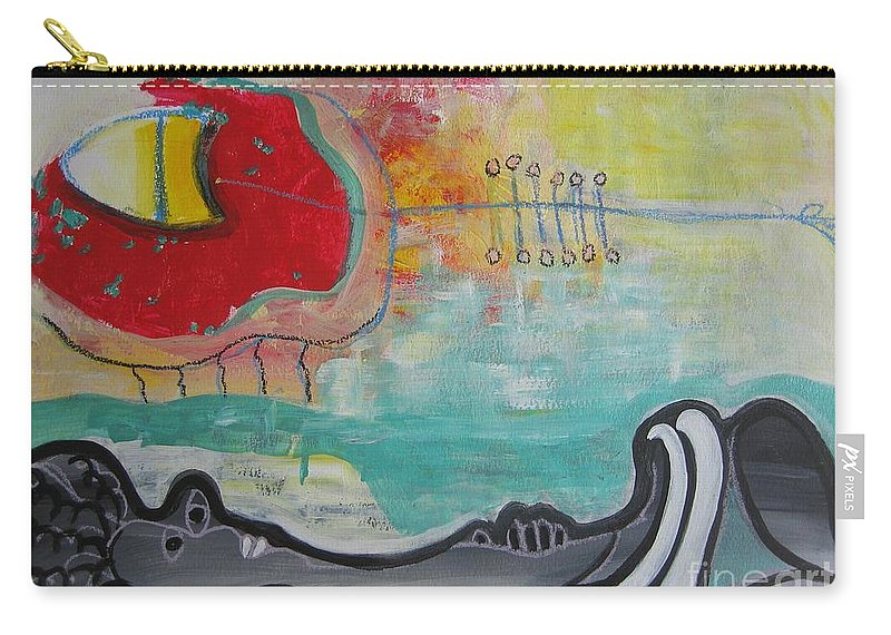 Red Paintings Carry-all Pouch featuring the painting Read My Mind1 by Seon-Jeong Kim