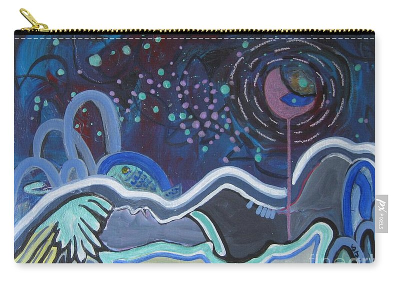 Abstract Paintings Carry-all Pouch featuring the painting Read My Mind5 by Seon-Jeong Kim