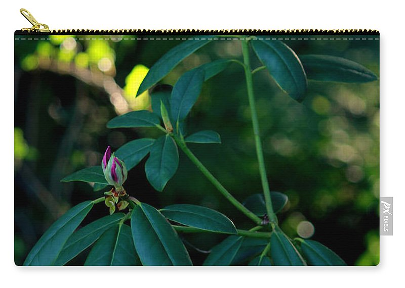 Rhododendron Carry-all Pouch featuring the photograph Ready To Bloom by Jeanette C Landstrom